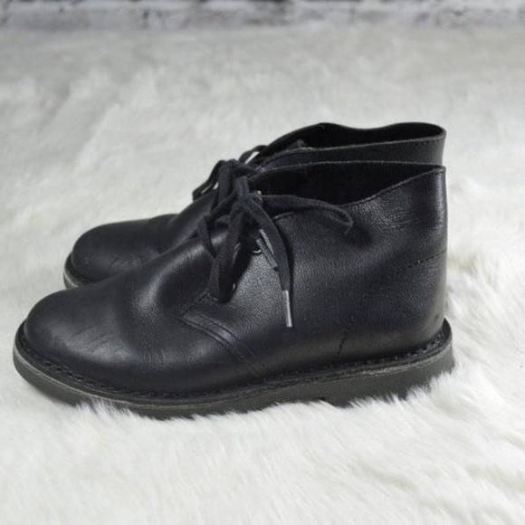 ef03f2c9f4f60 Clarks Shoes | Originals Black Leather Kids Chukka Boots | Poshmark